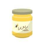 ビンに入ったハチミツ