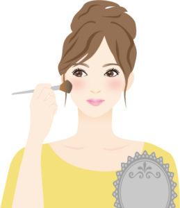 お化粧をしている女のひと