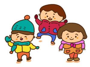冬服の子供