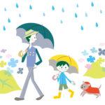 雨の日犬散歩