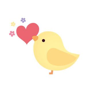 ハート小鳥